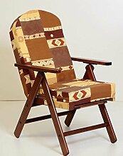 Sessel Stuhl Hochlehner Holz Relax 4Positionen Kissen gefüllt H 105Wohnzimmer Küche Lounge Sofa