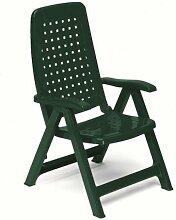 Sessel Stuhl Maya 5Positionen klappbar mit Armlehnen 60x 67x 108cm grün Scab 012148