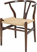Sessel Stuhl Replik CH24 Y-Chair Wishbone Hans Wegner Designer Vetrostyle dunkelbraun