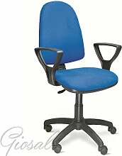 Sessel TORINO Büro Kunstleder Armlehnen nicht verstellbar Rollen schwarz giosal Senf
