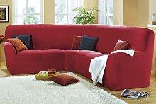 Sessel- und Sofabezüge, verschiedene Ausführungen, Größe 104 ( Eckhusse ), Bordeaux