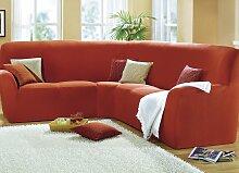 Sessel- und Sofabezüge, verschiedene Ausführungen, Größe 104 ( Eckhusse ), Terra