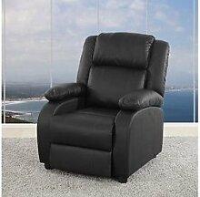 Sessel verstellbar schwarz Kunstleder