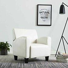 Sessel Weiß Kunstleder 14155 - Topdeal
