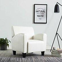 Sessel Weiß Kunstleder VD14155 - Hommoo