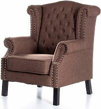 Sessel Winchester Brown, 87x78x110cm