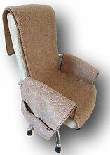 Sesselschoner aus Wolle mit Taschen Sesselauflage