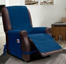 SESSELSCHONER mit relaxfunktion- blau