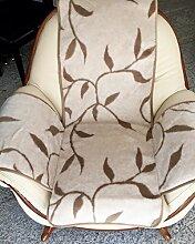 Sesselschoner Zweige beige, mit Seitentaschen,