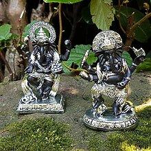 Set 2 Stk. Ganesha Buddha Deko Figur Feng Shui