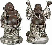 Set 2 Stk. Happy Buddha Deko Figuren Feng Shui