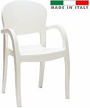 Set 2Stk. Stuhl Gemini Art. 036weiß glänzend Design Modern Elegan