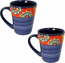 Set/2 Tasse Kaffeetasse Teetasse Geschirr Keramik