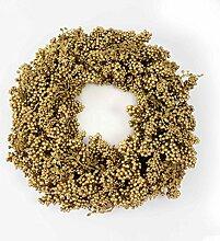 Set 2 x Beerenkranz, Ø 45 cm, gold - Weihnachten Deko / weihnachtliche Dekoration - artplants