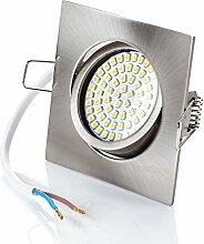 Set 6 x flache dimmbar Einbaustrahler LED von