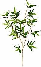 Set 6 x Künstliche Japanische Bambuszweige JOTARO, 105 Blätter, grün, 60 cm - Kunst Zweige / Bambus Dekoration - artplants