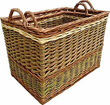 Set aus 2 Butt Kleine Log Baskets