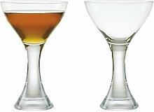Set aus 2 Manhattan Cocktail-Gläsern
