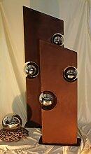 Set aus 2 Säulen exklusive XXXL Rostsäule RS111 und RS112 kostenloser Versand Deko Rost Säulen Blumen Garten