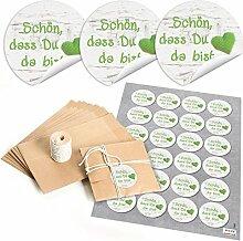 Set aus 48 Papiertüten für Gastgeschenke