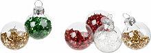 Set aus Mini-Weihnachtskugeln aus Glas mit bunten