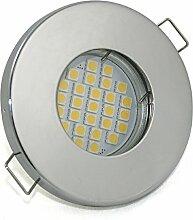 Set Bad Einbaustrahler IP65 Farbe: Chrom | 5Watt -