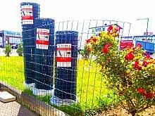 Set Gartenzaun, Schweißgitterzaun, Zaunset, Zaunpfosten, Maschendrahtzaun, Gitterzaun, Maschung 50x50x2.2mm (50 Meter Länge x 1.0m Höhe)