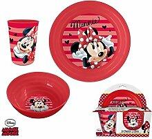 Set Geschirr–Teller Schüssel Becher Disney–Minnie