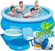 Set Green Pool Quick-up Gartenpool 244 x 66 cm Bestway 57265