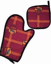 Set Grill A.S. Roma 2Stück Handschuh + Topflappen * 01016Offizielles Produk