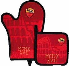 Set Grill A.S. Roma 2Stück Handschuh + Topflappen * 20534Offizielles Produk