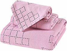 Set Handtuch Baumwolle Gaze 3 Stück Doppel