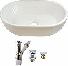 Set Keramikwaschbecken + Stopper ohne