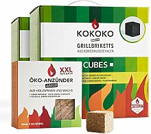 Set: KOKOKO CUBES Bio Kokos Grillbriketts in