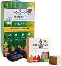Set: KOKOKO EGGS Bio Kokos Grillbriketts in