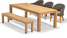 Set - Luna Sitzbank - 5-teilig - Braun