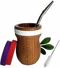 Set Mate Argentino - Hygienisches Holz Becher,