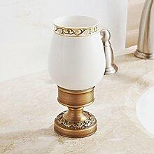 set Messing Becher Zahnbürstenhalter/Europäische Keramik-Becher-B