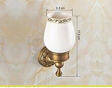set Messing Becher Zahnbürstenhalter/Europäische Keramik-Becher-A