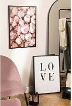 Set mit 2 dekorativen Bildern (50x70 cm) Rose Love