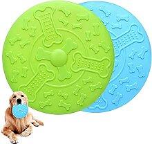 Set mit 2 Hunde-Scheiben, Hundespielzeug Frisbee,