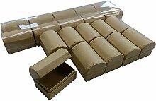 Set mit 20 Stück Schatztruhen aus Pappe / Karton
