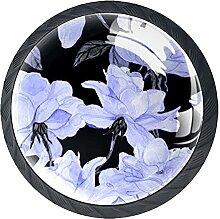 Set mit 4 Kristall-Schrankknäufen mit schönen