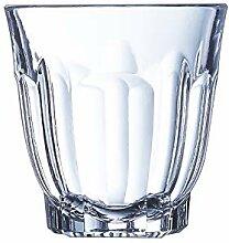 Set mit 6 Gläsern aus robustem Glas, niedrig, 35