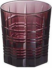 Set mit 6 Gläsern aus robustem Glas, niedrige