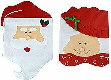 Set of 2MR & MRS Santa Claus Weihnachten Dekoration zu Hause Küche Stuhl Bezüge