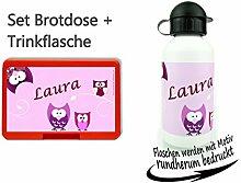 Set persönliche Brotdose BPA-Frei + Trinkflasche