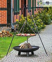 Set - Schwenkgrill 1,80m mit Ø80cm Grillrost und