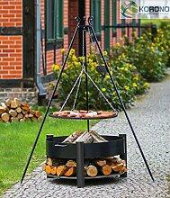 Set - Schwenkgrill 1,80m mit Kurbel incl. Ø80cm Grillrost und Ø70cm Feuerschale 326