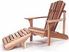 Set Sessel Stuhl und Fußstütze Adirondack Ottoman